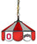 "Ohio State Buckeyes Log Combo 14"" Pendant Swag Lamp - Team Sports Gift"