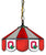 "Ohio State Buckeyes Classic 14"" Pendant Swag Lamp - Team Sports Gift"