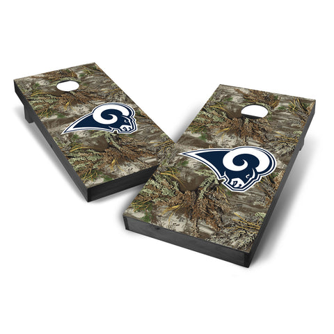 40f378904d9c9 Los Angeles Rams 2x4 Realtree Max-1 Camouflage Cornhole with Optional  Bluetooth Speakers and LED Lights