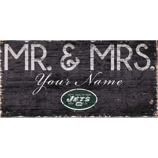 Personalized New York Jets Mr. and Mrs. Sign