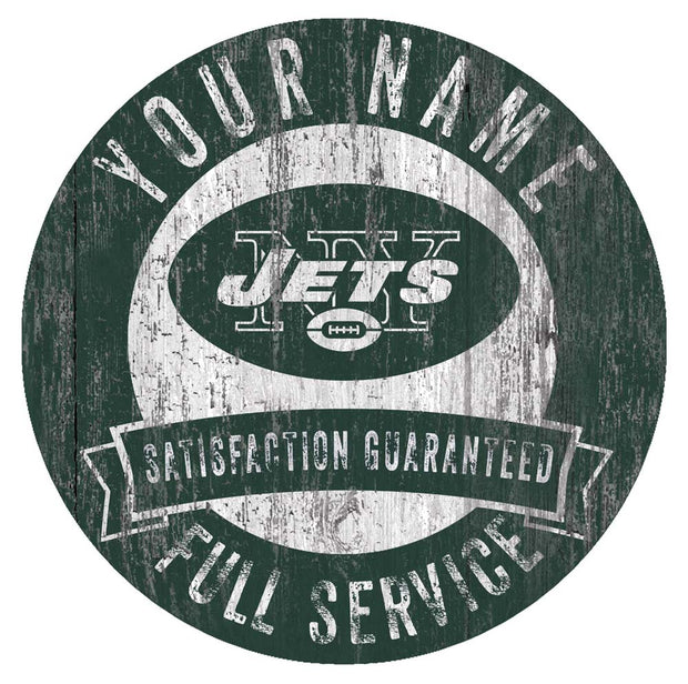 Personalized New York Jets Full Service Garage Sign