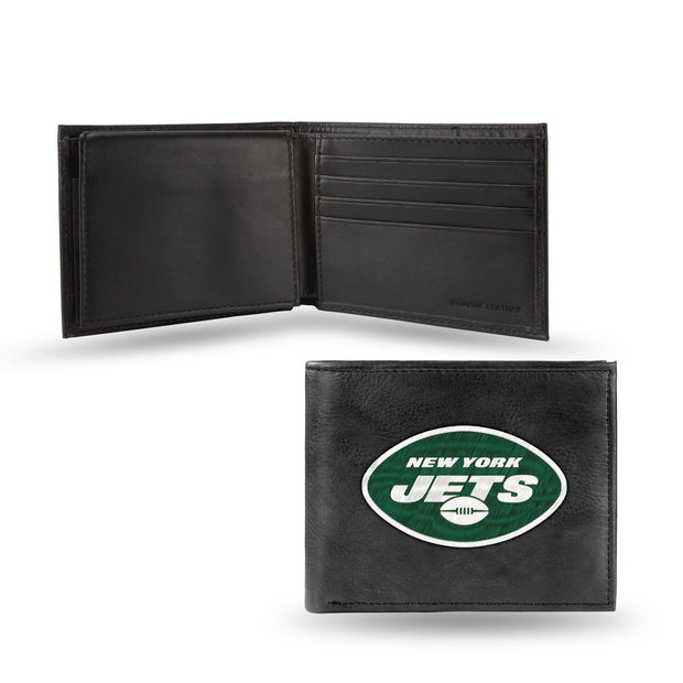 New York Jets Embroidered Leather Wallet for Men