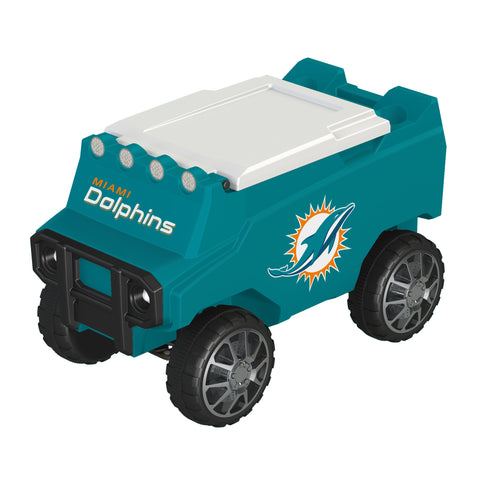Miami Dolphins Remote Control Cooler w/ Bluetooth Speakers