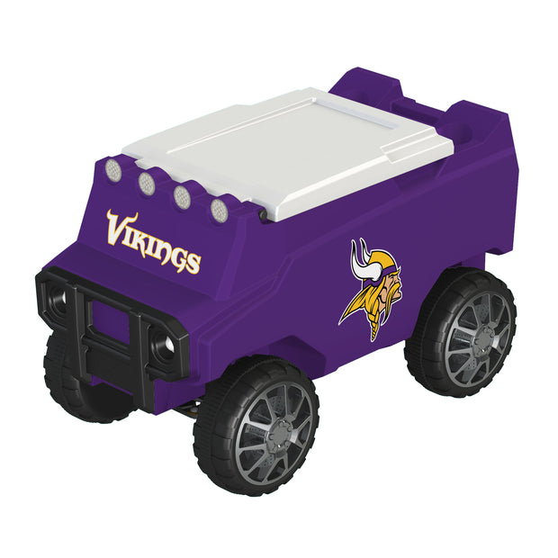 Minnesota Vikings Remote Control Cooler w/ Bluetooth Speakers - Team Sports Gift