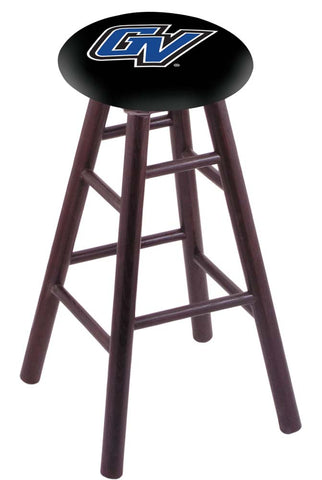 Grand Valley State Lakers Swivel Stool w/ Dark Cherry Maple Wood Base