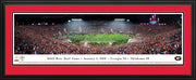 Georgia Bulldogs 104th Rose Bowl Football Panorama with Deluxe Frame