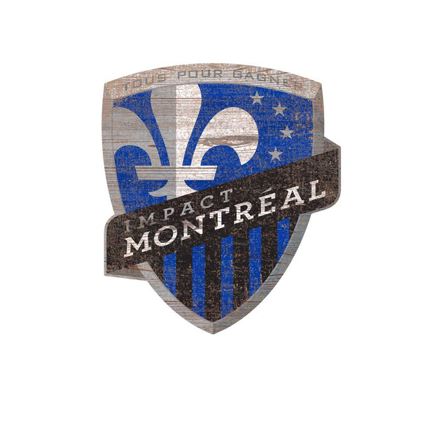 Montreal Impact Distressed Logo Wall Art