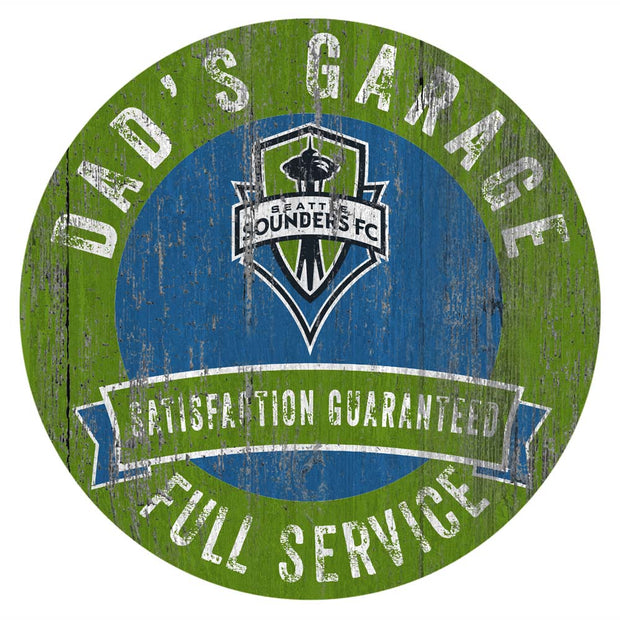 Seattle Sounders FC Dad's Full Service Garage Sign
