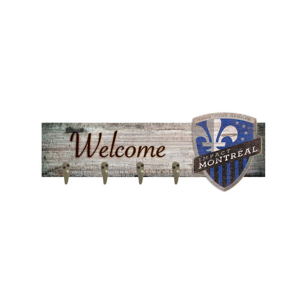 Montreal Impact Welcome Sign with Coat Hooks