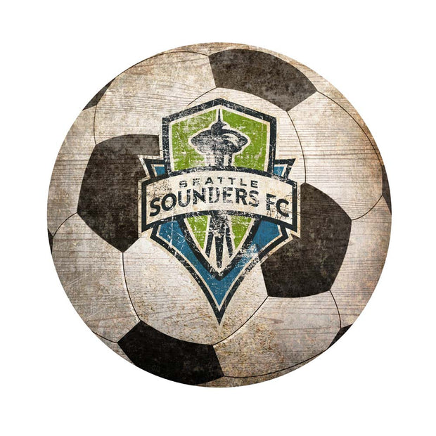 Seattle Sounders FC Soccer Ball Novelty Sign