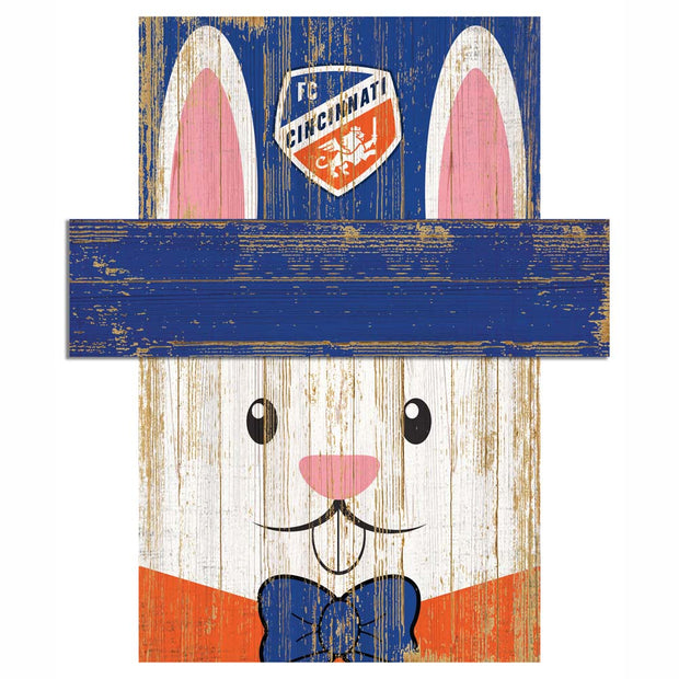 Easter Bunny Loves The FC Cincinnati Wall Plaque