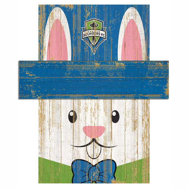 Easter Bunny Loves The Seattle Sounders FC Wall Plaque