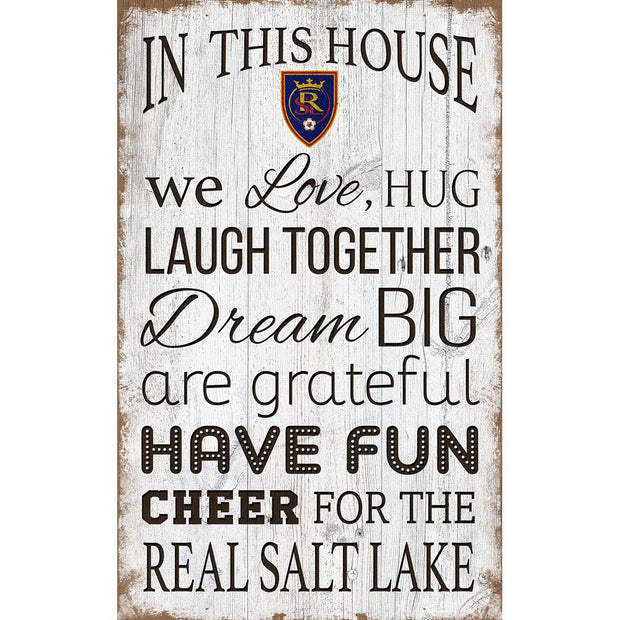 Real Salt Lake House Rules Sign - Team Sports Gift