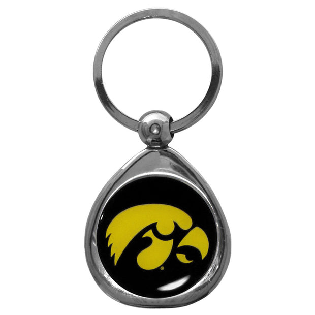 Iowa Hawkeyes Polished Chrome Medallion Key Chain
