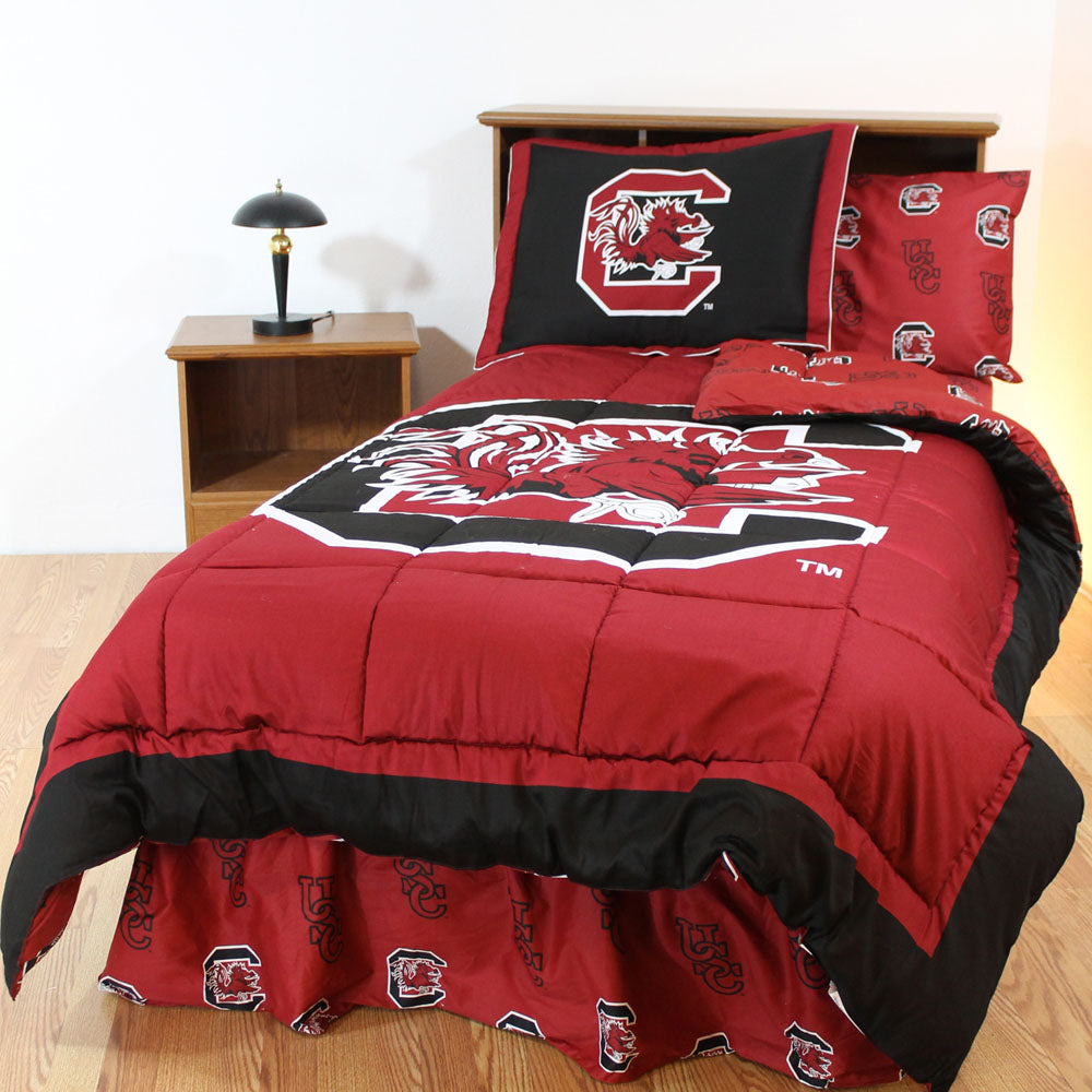 South Carolina Gamecocks Bed in a Bag w/ Colored Logo Sheets