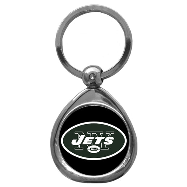 New York Jets Polished Chrome Medallion Key Chain