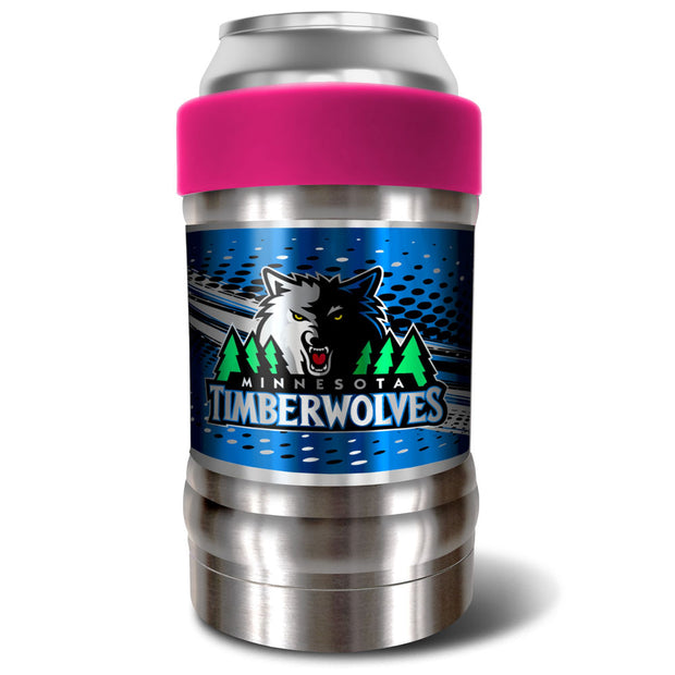 Minnesota Timberwolves Locker 12oz Can or Bottle Holder w/ Pink Collar