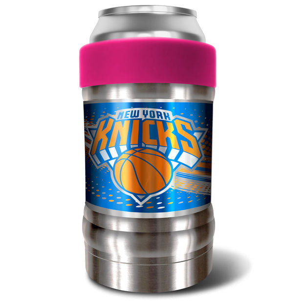 New York Knicks Locker 12oz Can or Bottle Holder w/ Pink Collar