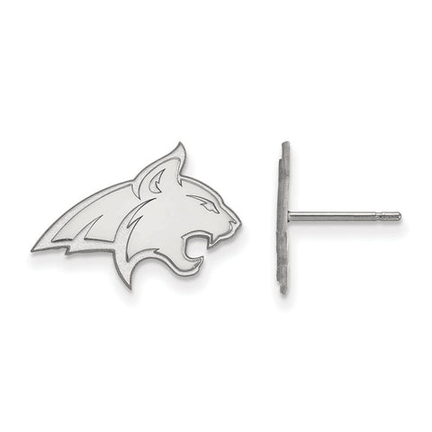 Montana State Bobcats White Gold Post Earrings