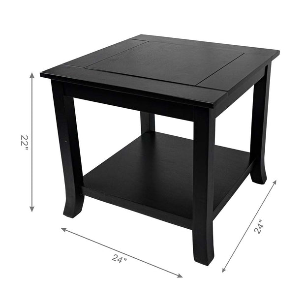 New York Rangers Reversible Black Side Table
