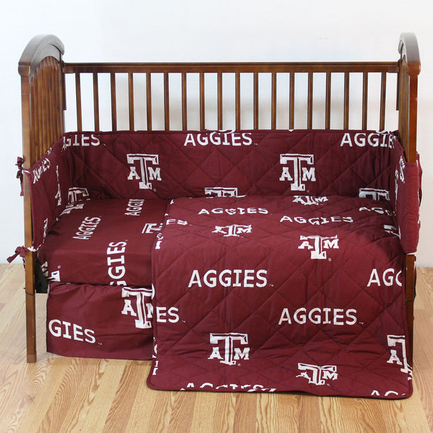 Texas A&M Aggies 5pc. Baby Crib Bedding Set