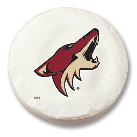 Arizona Coyotes White Tire Cover w/ Security Grommets