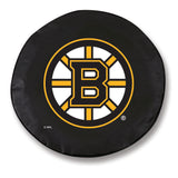 Boston Bruins Black Tire Cover with Optional Security Grommets