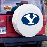 BYU Cougars White Tire Cover with Optional Security Grommets