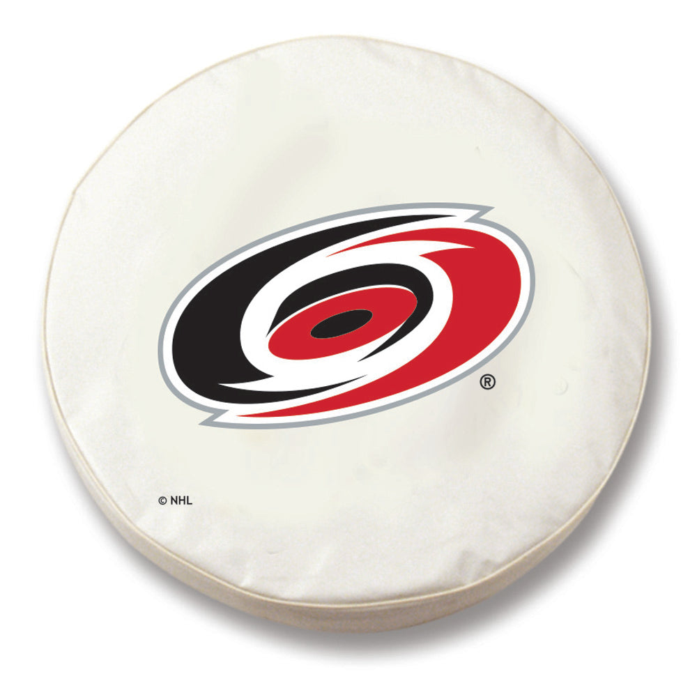 Carolina Hurricanes White Tire Cover with Optional Security Grommets