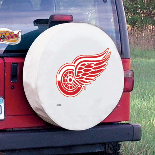 Detroit Red Wings White Tire Cover