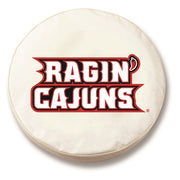 Louisiana Ragin' Cajuns White Tire Cover