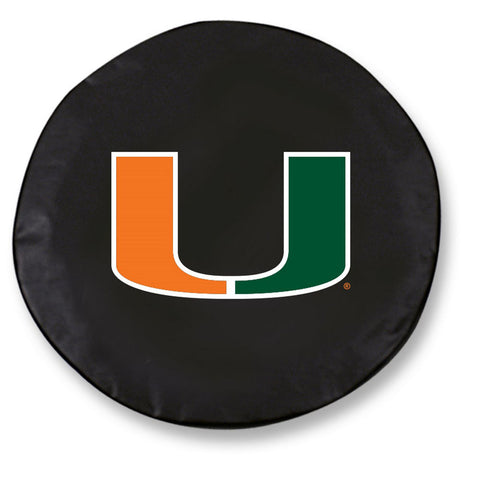 Miami Hurricanes Black Tire Cover