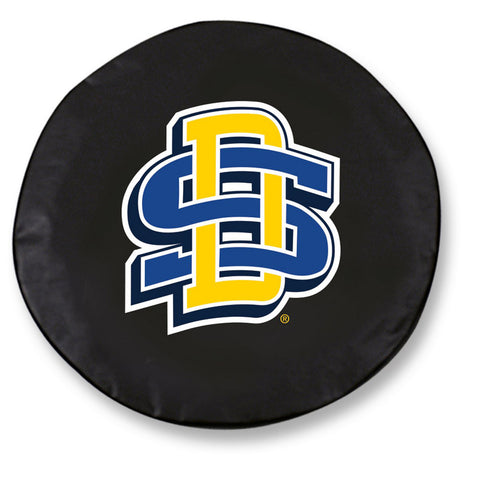 South Dakota State Jackrabbits Black Tire Cover w/ Security Grommets