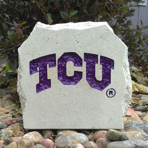 TCU Frogs Engraved Stone Paperweight