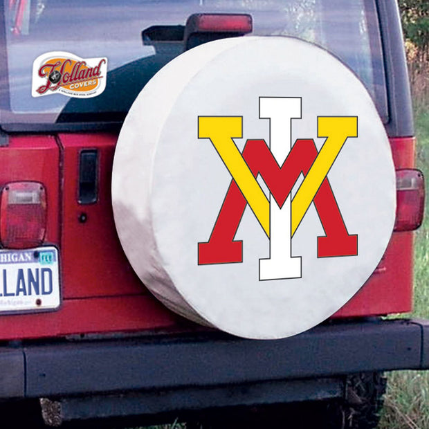 VMI Keydets White Tire Cover