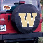 Washington Huskies Black Tire Cover
