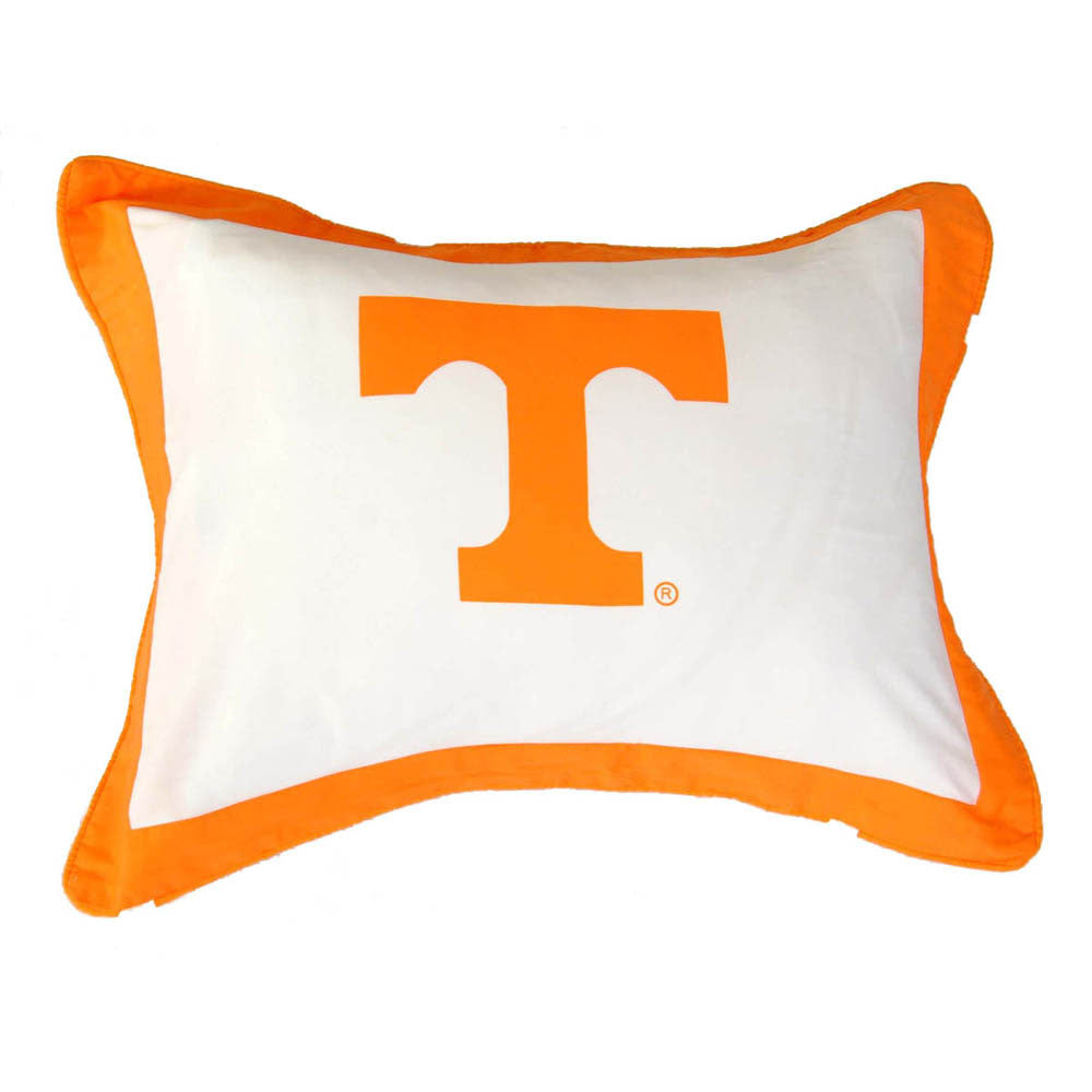Tennessee Volunteers Team Logo Quilted Pillow Sham