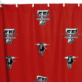 Texas Tech Red Raiders Scatter-Print Shower Curtain