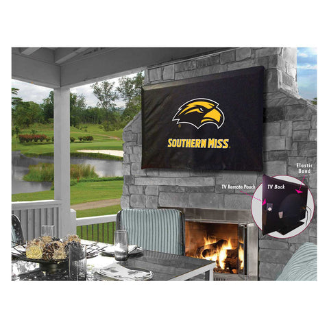 Southern Miss Golden Eagles Indoor/Outdoor TV Cover