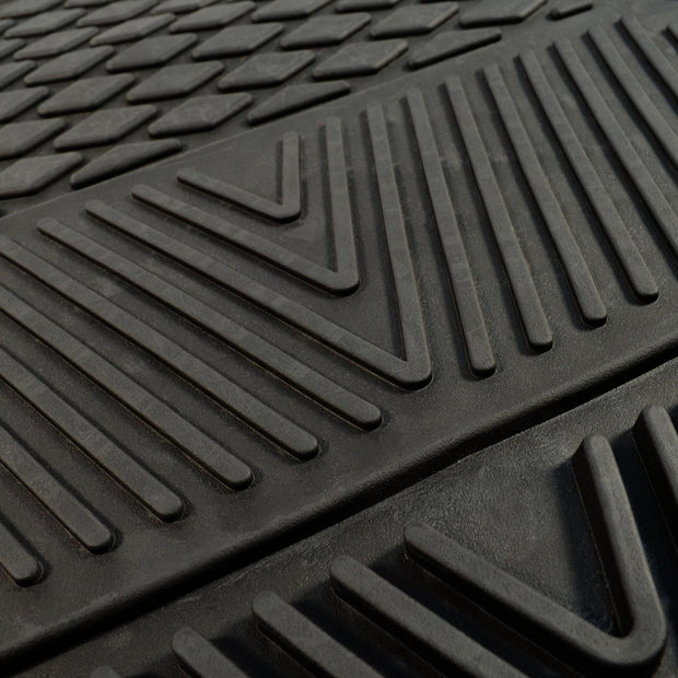 Raised Ridges of Car Floor Mat