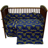 West Virginia Mountaineers 5pc. Baby Crib Bedding Set