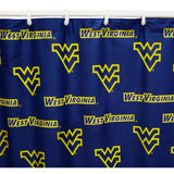 West Virginia Mountaineers Scatter-Print Shower Curtain