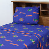 Florida Gators Team Spirit Blue Sheet Set