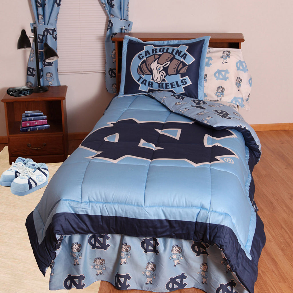 UNC Tar Heels Bed in a Bag w/ White Logo Sheets