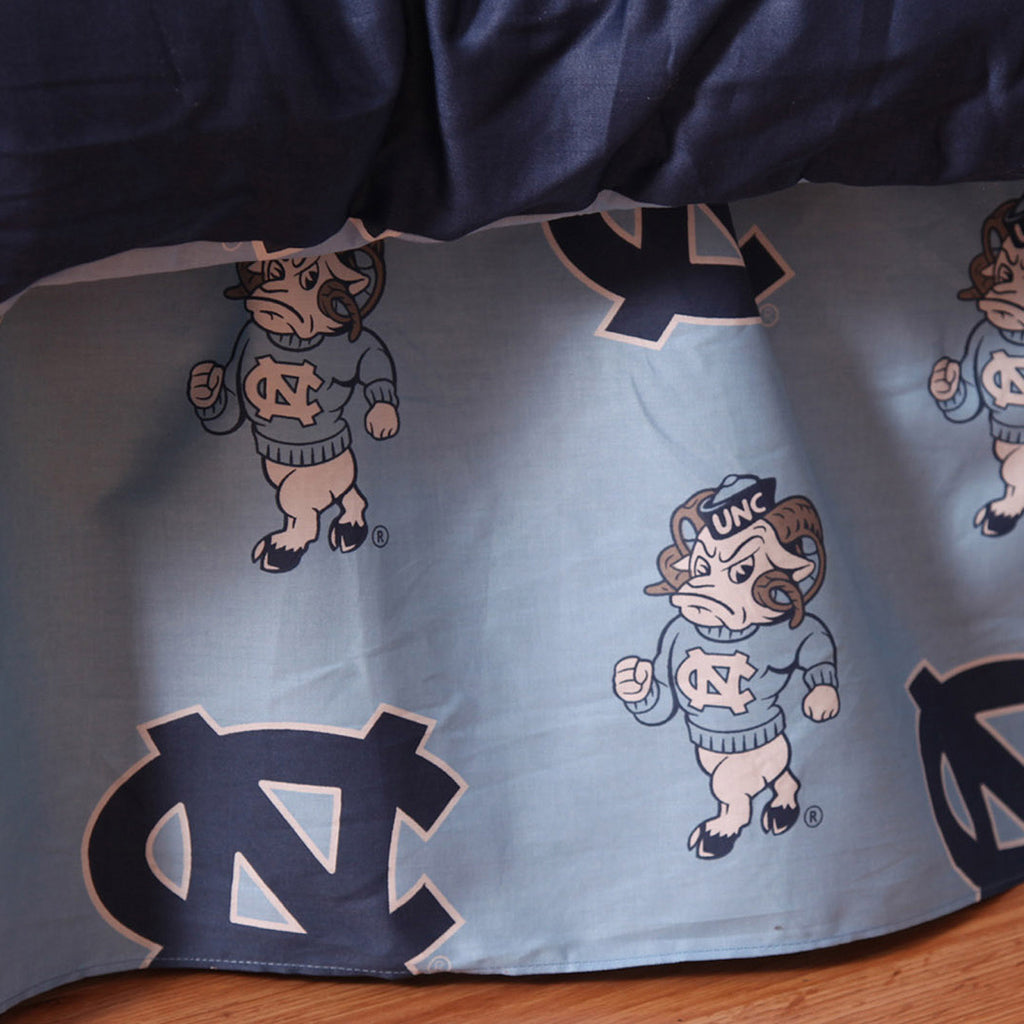 UNC Tar Heels Team Spirit Bed Skirt