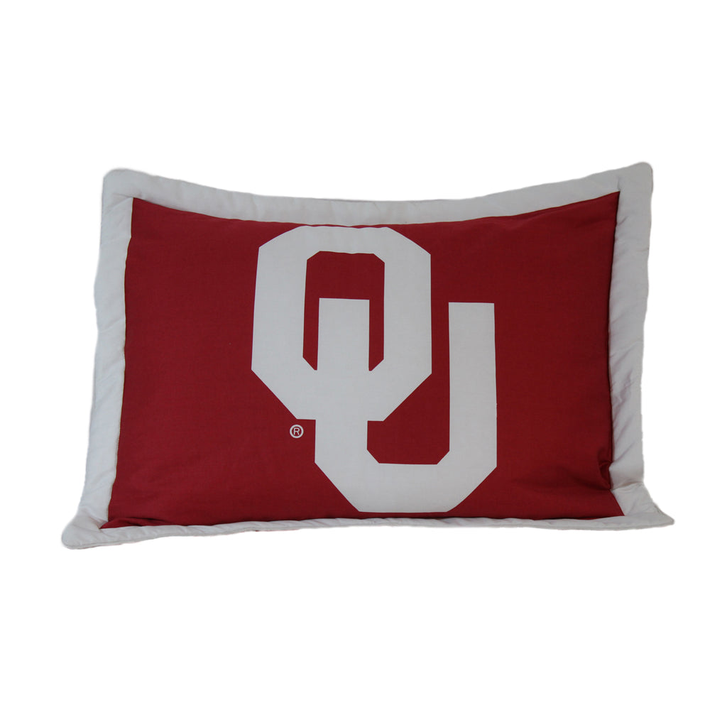 Oklahoma Sooners Team Logo Pillow Sham
