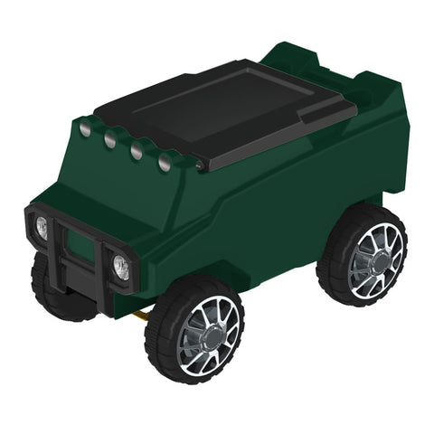 Remote Control Cooler with Bluetooth Green Body & Black Top