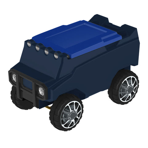 Remote Control Cooler with Bluetooth Navy Body & Blue Top