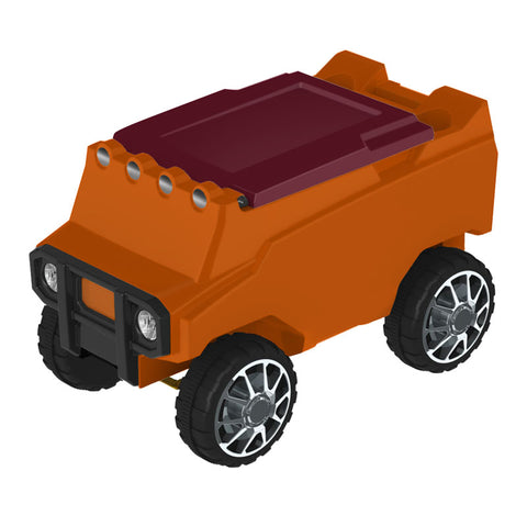Remote Control Cooler w/ Bluetooth Speakers in Orange & Maroon