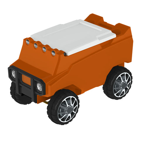 Remote Control Cooler with Bluetooth Orange Body & White Top